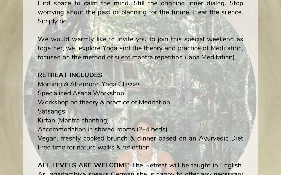 Foundations of Meditation – Yoga Retreat