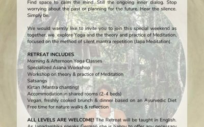 Foundations of Meditation – Yoga Retreat